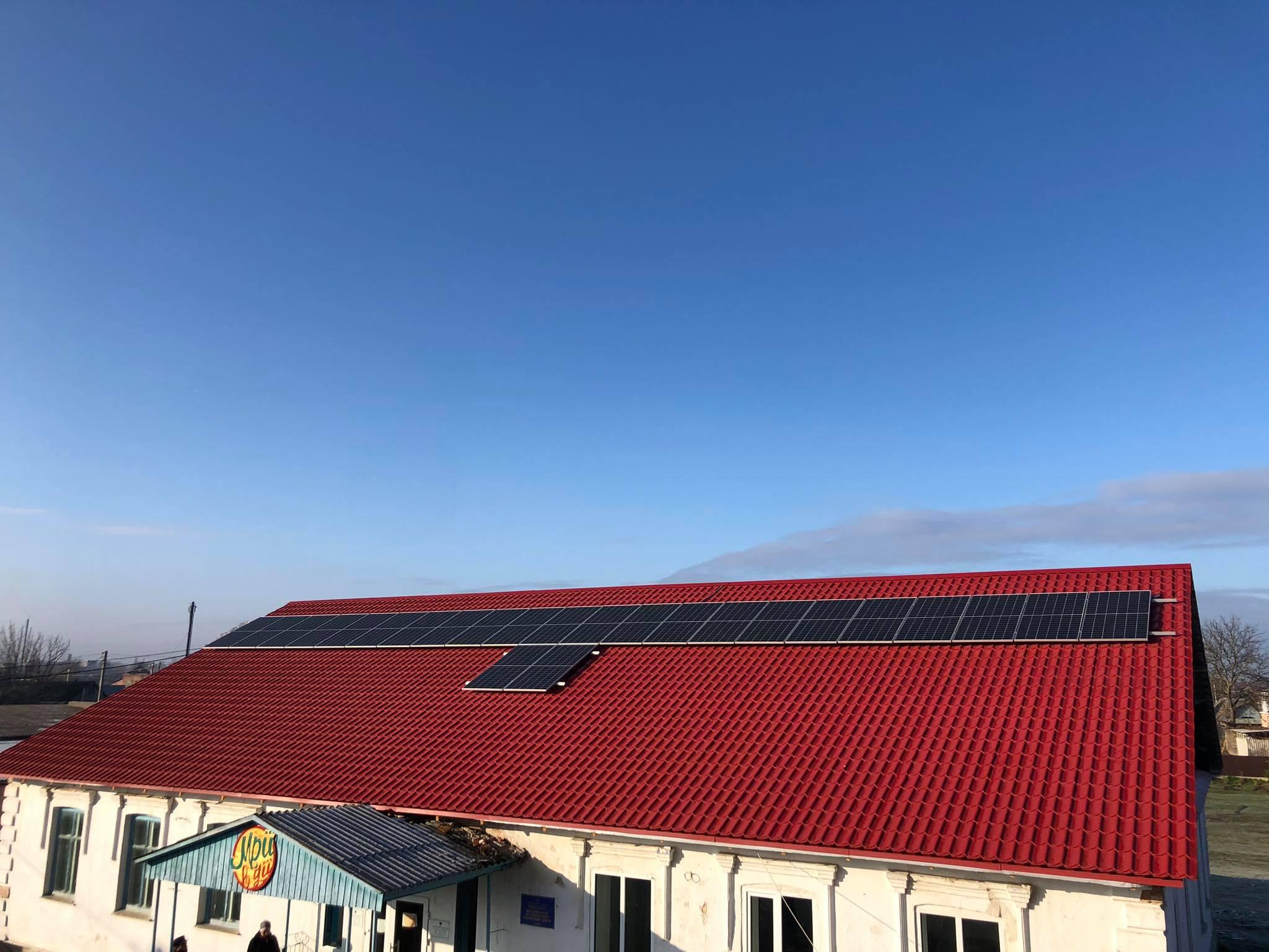 У Баранівці запрацювала сонячна електростанція 10 кВт та центр енергоефективності