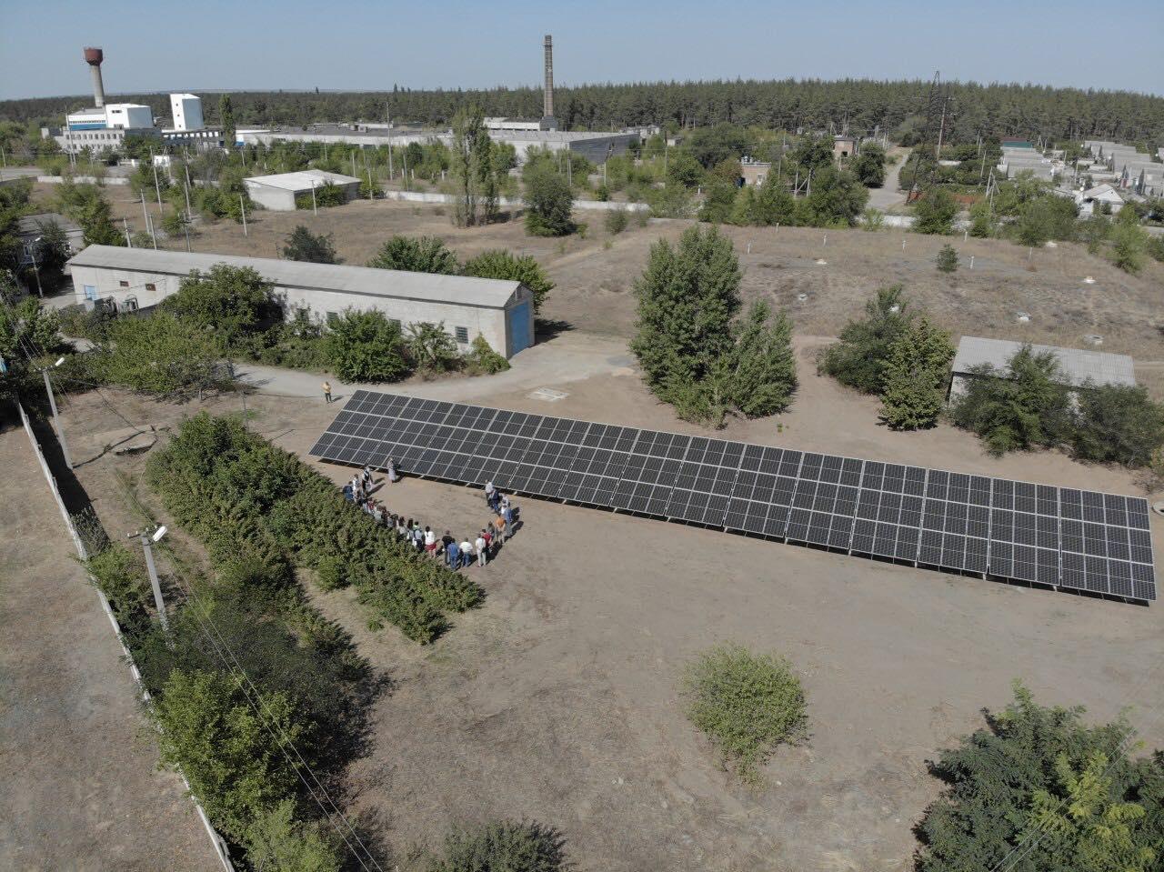 У Вознесенську відкрили першу сонячну електростанцію для водоканалу в країні